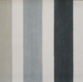 Villa Mosa - Graphite - Graphite grey striped fabric