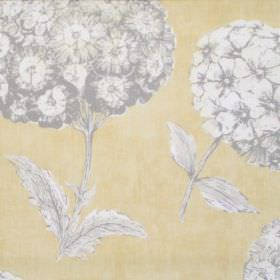 Sicilia - Chardonnay - Chardonnay coloured sicilia fabric with grey flowers