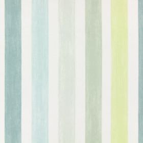 Villa Mosa - Duck Egg - Duck egg blue striped fabric