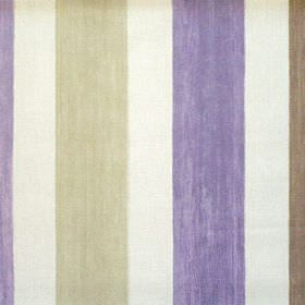 Villa Mosa - Lavender - Lavender purple striped fabric