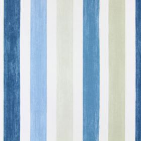 Villa Mosa - Indigo - Indigo blue striped fabric
