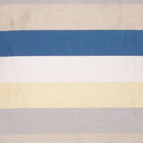 Love - Azure - Azure blue and yellow striped fabric