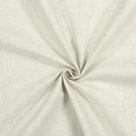 Emilia - Oatmeal - Cotton, linen, viscose and polyester blend fabric made in a plain light silvery grey colour
