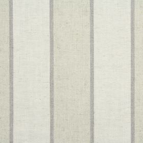 Celeste - Oatmeal - Cream, beige and grey stripes making a vertical pattern on fabric made from cotton, linen, viscose and polyester