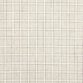 Bianca - Oatmeal - Creamy beige and white checks covering cototn, linen, viscose and polyester blended together into a fabric