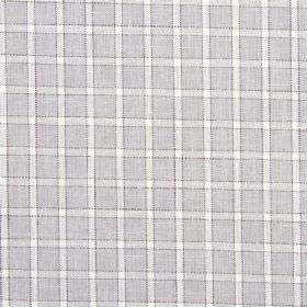 Bianca - Dove - Equal proportions of cotton, linen, viscose and polyester going into fabric with a light grey and white checked design