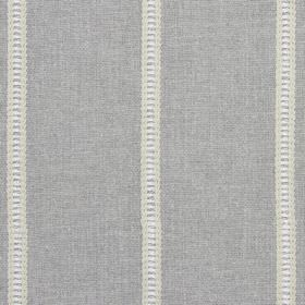 Carmen - Dove - Cream, white and grey striped detailing on mid-grey coloured fabric made by blending a variety of different materials