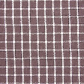 Bianca - Sable - Chocolate brown coloured fabric blended from a variety of materials, with a checked design in white andlight brown