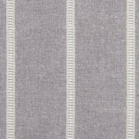 Carmen - Sable - Fabric made from a variety of materials in mid-grey, with a few narrow stripes featuring grey, white and cream detailing