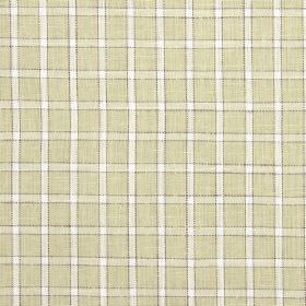 Bianca - Avocado - Checked cotton, linen, viscose and polyester blend fabric made in white and cream shades