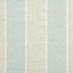Celeste - Spearmint - Mint green, grey-green and white making up a striped design on fabric blended from a variety of materials