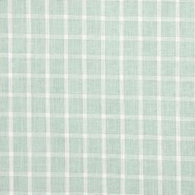 Bianca - Spearmint - Cotton, linen, viscose and polyester blend fabric featuring simple checks in white and pale mint green colours