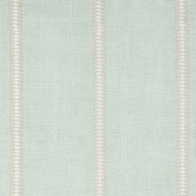 Carmen - Spearmint - White, grey and cream stripes set against a pale mint green coloured blended fabric background