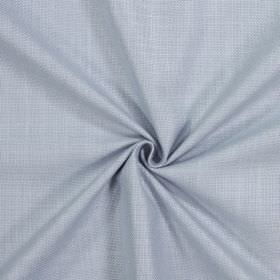 Emilia - Denim - Plain silver-grey coloured cotton, linen, viscose and polyester blended fabric with a matt finish