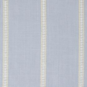 Carmen - Denim - Light blue-grey fabric made from a variety of materials, with vertical stripes including some light yellow, white & grey