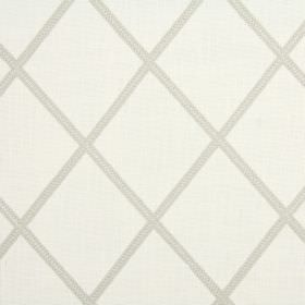 Lorenza - Oatmeal - Ivory and beige coloured blended fabric with a simple design of widely spaced narrow diagonal stripes