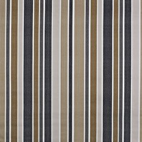 Ingrid - Ochre - Fabric made from 100% cotton with a simple but bold vertical stripe design in contemporary grey, brown and beige colours