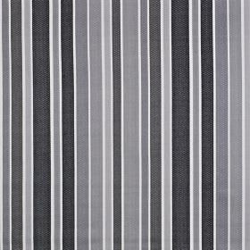 Ingrid - Graphite - 100% cotton fabric featuring a pattern of vertical stripes of different widths in various light and dark shades of grey