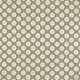 Pia - Stone - Fabric made from viscose, cotton and polyester in two different light shades of grey, featuring a large polka dot design