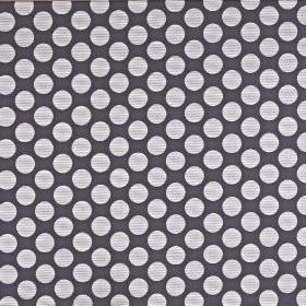 Pia - Graphite - Viscose, cotton and polyester blend fabric featuring a large polka dot design in charcoal and cloudy shades of grey