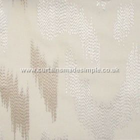 Ozone - Parchment - Parchment white fabric with modern stiched design