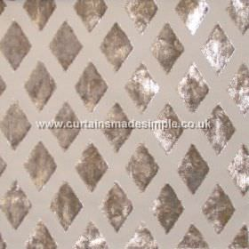 Atmosphere - Linen - Linen sandy fabric with diamond grid