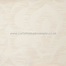 Mist - Linen - Linen yellow fabric with classic lily design
