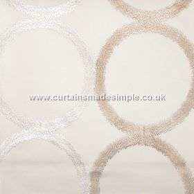 Sphere - Oyster - Grid of circles on oyster white fabric