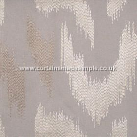 Ozone - Silver - Silver grey fabric with modern stiched design