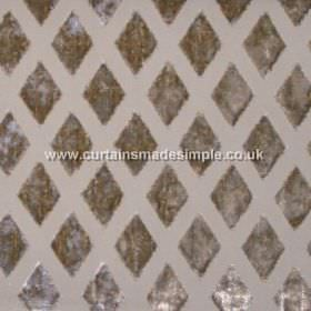 Atmosphere - Parchment - Parchment brown fabric with diamond grid