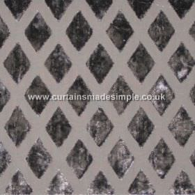 Atmosphere - Silver - Silver grey fabric with diamond grid