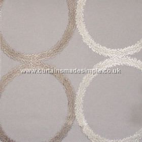 Sphere - Silver - Grid of circles on silver grey fabric