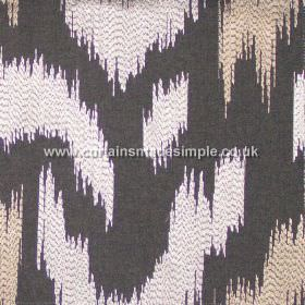 Ozone - Granite - Granite grey fabric with modern stiched design