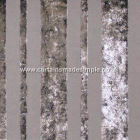 Sky - Silver - Silver grey striped fabric