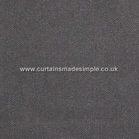 Strata - Granite - Plain granite grey fabric with herringbone pattern