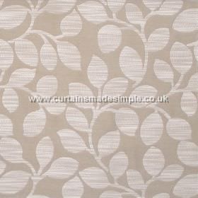 Cloud - Parchment - Modern foliage pattern on parchment grey fabric