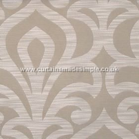 Mist - Parchment - Parchment sandy fabric with classic lily design