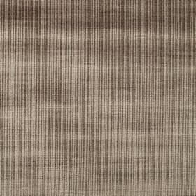 Dome - Linen - Coffee and chocolate coloured cotton and viscose blend fabric, covered with very narrow vertical stripes