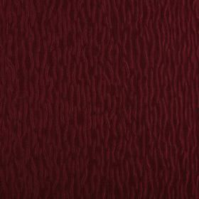 Ripple - Cardinal  - A fun pattern of short, wiggly lines covering fabric made from 100% polyester in two very similar deep berry shades