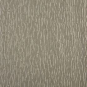 Ripple - Auburn - Fabric made from grey coloured 100% polyester, patterned with a design of short, wiggly lines in a lighter silver colour