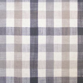 Fallon - Charcoal - Hard wearing fabric featuring a checked design in white, two different shades of grey and two different shades of beige
