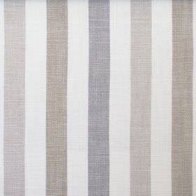 Skye - Natural - Fabric which is hard wearing featuring a striped design in brown, beige, grey and off-white
