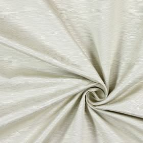 Bamboo - Pearl - Horizontal ridges in cream and gold, which have different lengths, completely covering fabric made from cotton