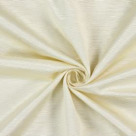 Bamboo - Champagne - Ridged lines of uneven lengths and widths making up the pattern for this fabric made from cream coloured cotton