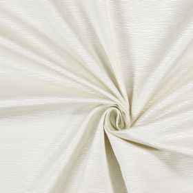 Bamboo - Oyster - Cotton fabric covered in small, horizontal ridges in a light cream colour