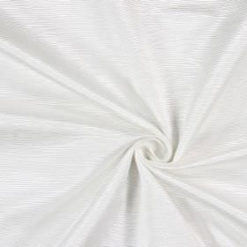 Bamboo - Ivory - Ridged fabric made from cotton in white, with small ridges of different lengths making up the pattern