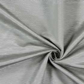 Bamboo - Silver - Cotton fabric covered in white and light grey coloured ridges which are small, different lengths and horizontal