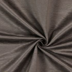 Bamboo - Sable - Dark brown ridges of different lengths and widths making up the horizontal pattern for this fabric made from cotton