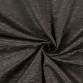 Bamboo - Walnut - Cotton fabric in dark brown, covered with small, raised horizontal lines
