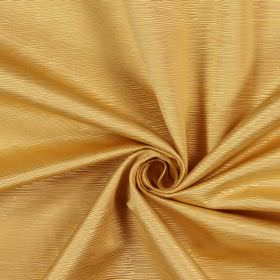 Bamboo - Coin - Cream-gold ridges which are short, on fabric made from cotton